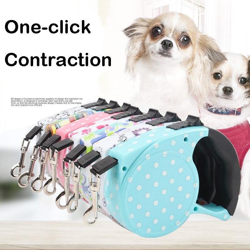 5M כלב עופרת רצועות אוטומטי מדריך מתיחת חתול חבל הארכת קטן בינוני כלבי ציוד לחיות מחמד