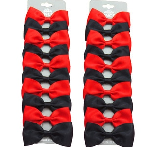 20PCS/Lot Lovely Black and Red Hairpins Grosgrain Ribbon Bows Clips 2020 Korean Creativity Hair Accessories For Baby Girls NEW