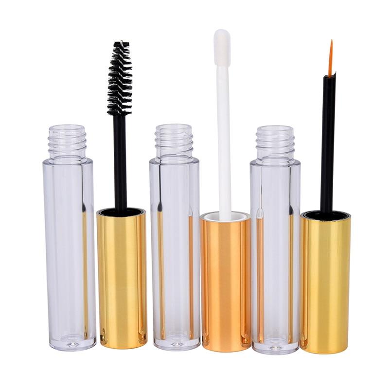 1 Set Eyelash Tube Eyeliner Tube Lip Gloss Tube Empty Cosmetic Tube With Wand Funnels Rubber Inserts DIY Container