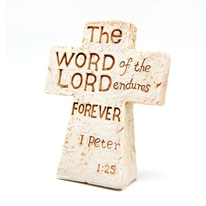 1 Pcs Christ Wall Resin Home Office Scripture Decoration Religious Saint 3D Craft Decor On The Stand Antique