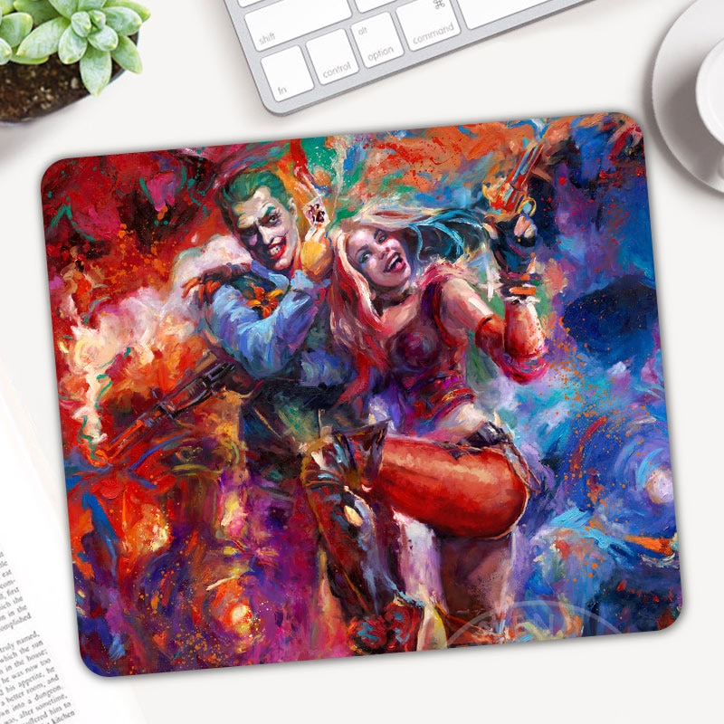 Alfombrilla de ratón para gamers Harley Quinn Joker, alfombrilla antideslizante para ordenador portátil