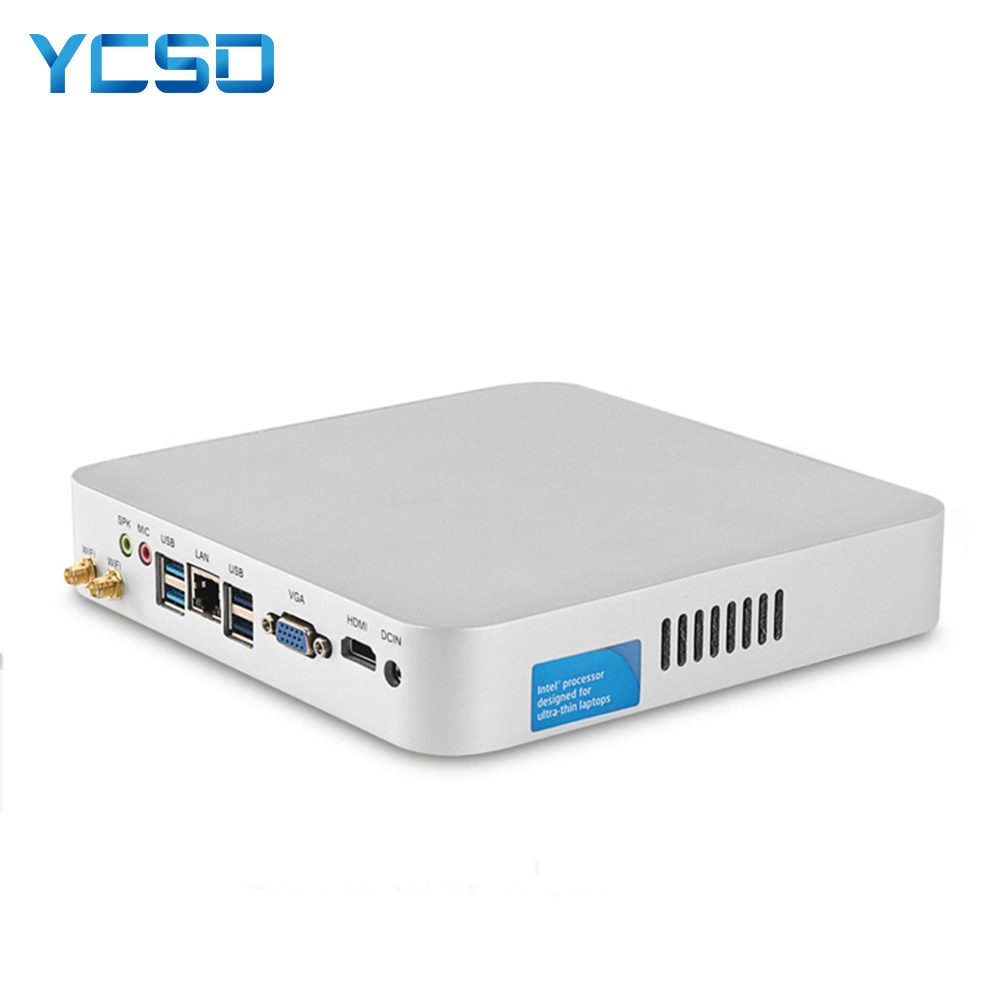 free shipping ddr4 fanless mini pc core i7 7500u computer 7th cpu core i5 7200u celeron 3865u with hdmi vga 4 usb3 0 nettop htpc HLY Core i7 7500U i5 7200U 3317U Mini PC Windows 10 7 Mini Computer HTPC Minipc 4K Linux HDMI Wifi Usb3.0 Household MiniComputer