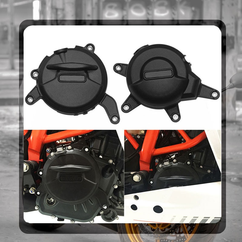 For RC390 RC 390 2017 2018 Motorcycle Nylon Engine Stator Cover Guard Protection Side Shield Protector