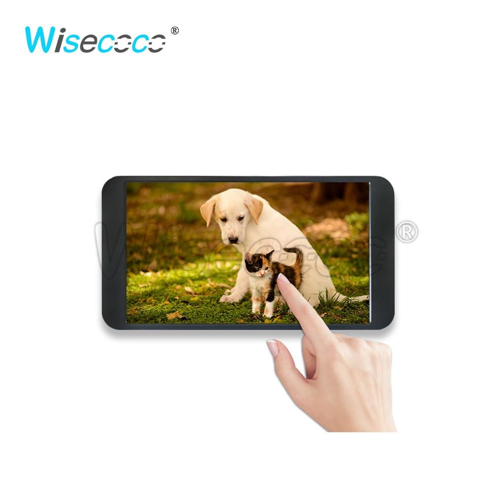 Wisecoco 7 بوصة المحمولة رصد 1080P IPS FHD 1920x1080 التوت بي لينكس Type-C كاميرا بـ USB شاشات مراقبة تعمل باللمس مراقب