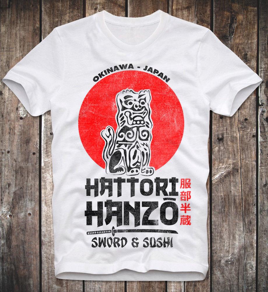 Camiseta espada de HATTORI HANZO. SUSHI matar a BILL TARANTINO UMA THURMAN RETRO VINTAGE Casual orgullo t camisa de los hombres de moda Unisex