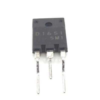 10 piezas D1651 2SD1651 D1651C TO-3PF 21 pulgadas línea de tubo línea de color tubo de uso común con amortiguación 5A 60W