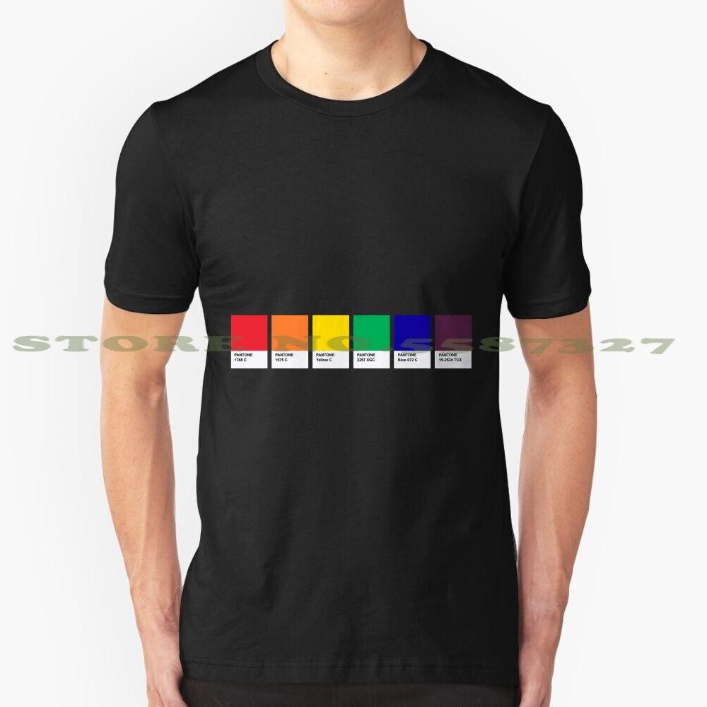 Lgbt cor pantone pallete gay comunidade design moda vintage tshirt t camisas orgulho comunidade gay lgbt pantone designer