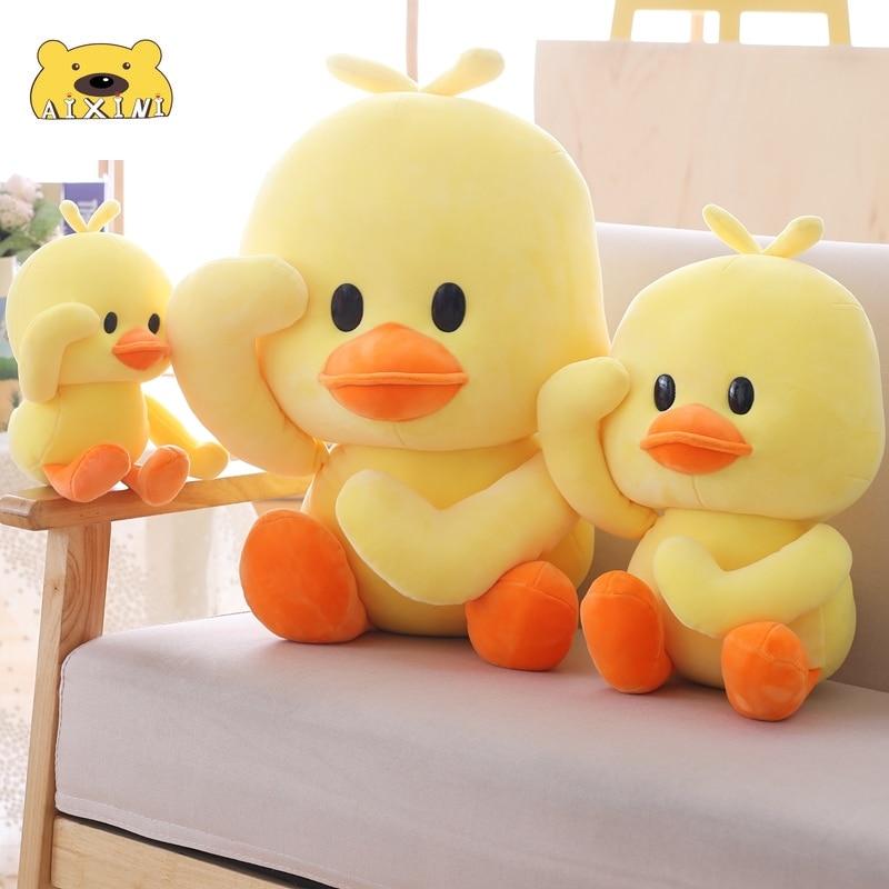Плюшевые игрушки-утка, большая желтая утка, набивные животные, игрушки для ребенка, подушка, подарок на день рождения, Декор, кавайная утка, п...