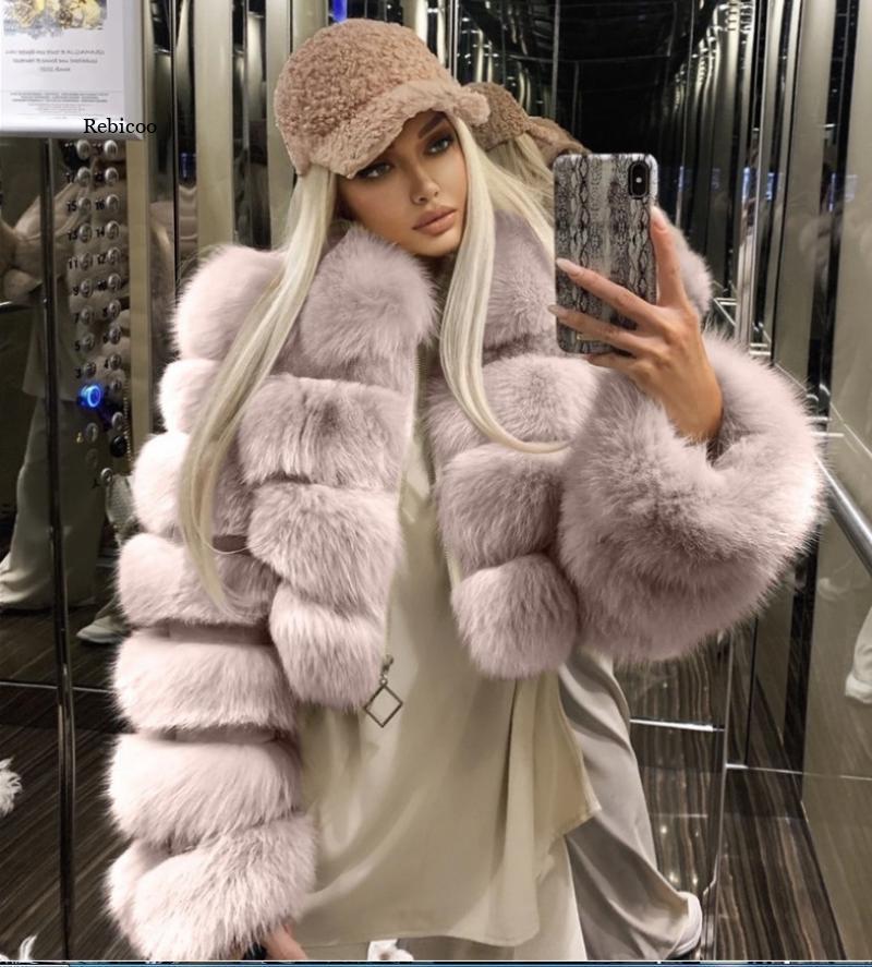 Женская норковая куртка, модная зимняя верхняя одежда из искусственного меха, элегантная Толстая теплая верхняя одежда, Женская пушистая к...
