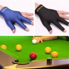 1 pièces gants à trois doigts billard billard billard queue gant piscine main gauche ouvert trois doigts Fitness Accessories2