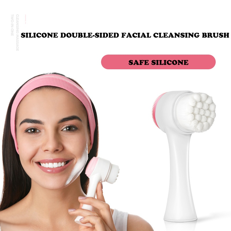 New 3D Face Cleaning Massage Face Wash Product Skin Care Tool Hot Double Side Silicone Face Cleansin