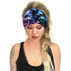 Men Women Sweatband Headbands Colorful Running Yo-ga Elastic Hair Band Headband When Wearing Yashmak