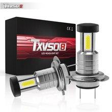 Ampoules H7 6000 55W 30000LM   2 pièces, ampoules de Conversion de faisceau Hi/Lo K, Kit de faisceau de phares