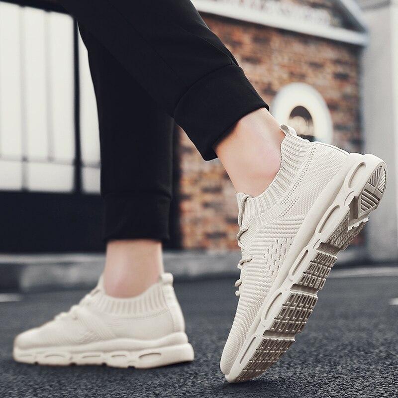 Zapatos de malla Vogue, zapatos vulcanizados de marca, zapatillas ligeras transpirables para hombre, zapatos deportivos con cordones, Tenis Masculino, zapatillas