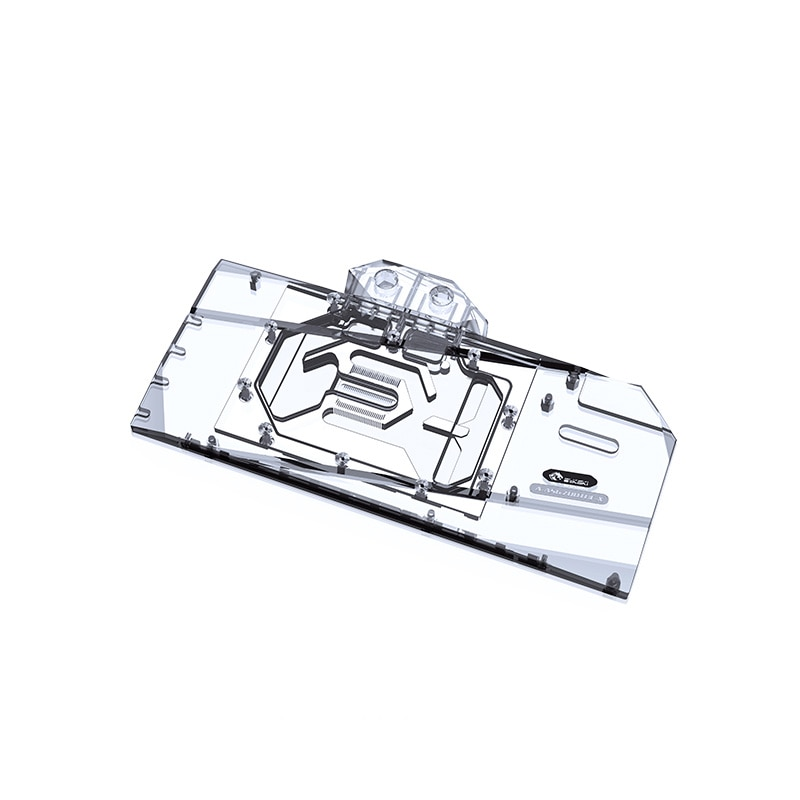 Bykski GPU Water Cooling Block For ASUS TUF,Strix Radeon RX6700XT O12G GAMING Graphics Card Cooler,Full Cover ,A-AS6700TUF-X