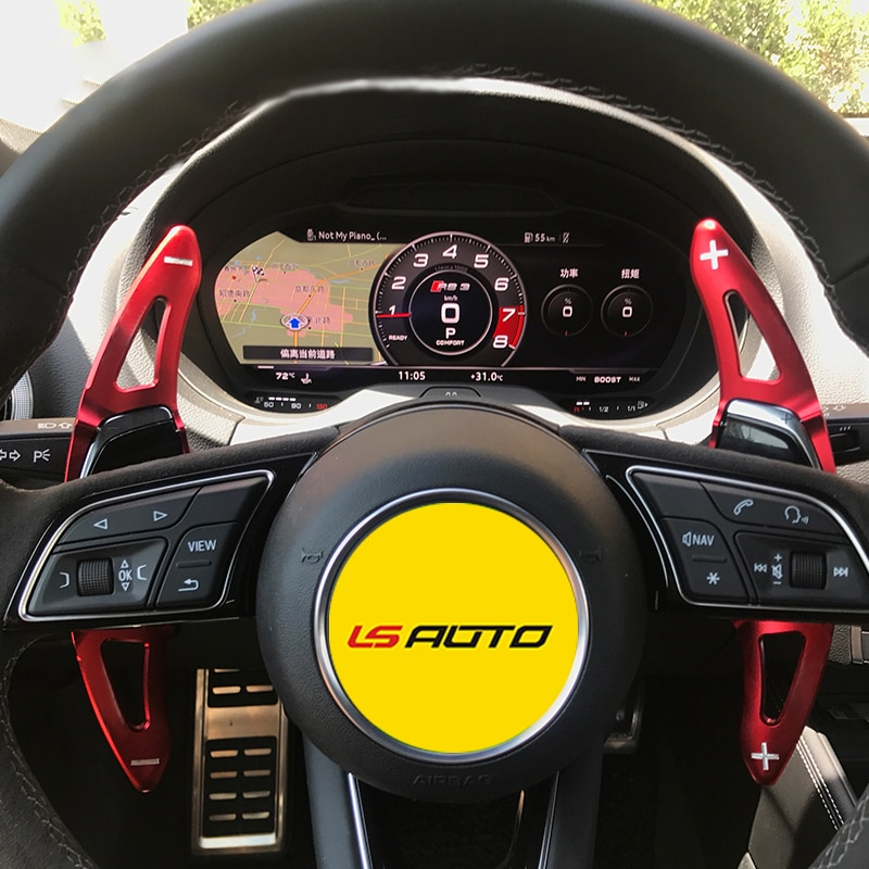 LS AUTO Auto Lenkrad Aluminium Legierung Shift Paddle Verlängerung für Neue Audi R8(2016-2017),RS3(2017) TT RS(2016-2017) Auto