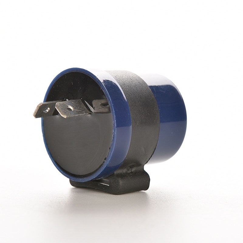 1 unidad CC 6V 12V entrada motocicleta incorporado Beeper señal de giro intermitente LED Blinker 2 pines zumbador de motor intermitente Indicador de relé azul