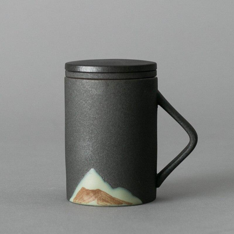 Tetera de cerámica Retro kungfú chino con colador, tetera hecha a mano de Dragon Flower Puer, juego de té de 250 ml, Porta tetera Kungfu