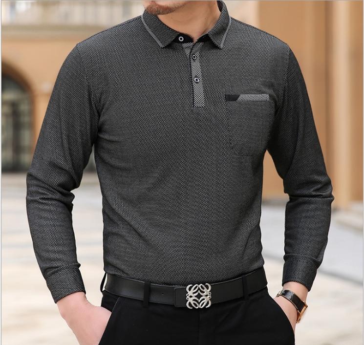 Camiseta de manga comprida casual de moda masculina b161