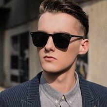 Occhiali da sole classici semi-rimless uomo donna 2021 occhiali da sole polarizzati quadrati uomo Oculos De Sol Gafas UV400 occhiali retrò