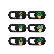 6pcs Cute plant Webcam Camera Cover Phone Lens protective Cover Camera Masking Sticker Computer Priv