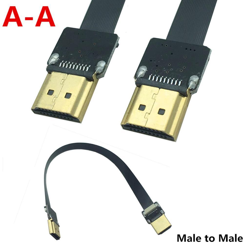 FPV Cable de antena PTZ FPV HDMI A-A estándar HDMI macho a macho Cable Flexible 5 cm-100 cm