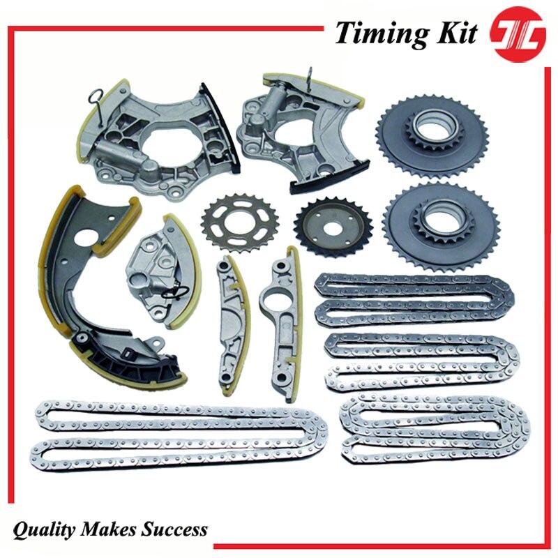 AD07-JC kit de corrente de distribuição/componentes para carro audi c6 2.8l/3.0 t v6 2009/q5 3.2l/a6 quattro 3.0 t/audi a6 a8 peças sobresselentes do motor