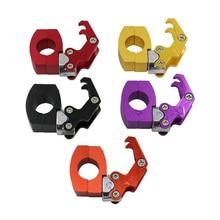 Motorcycle Helmet Hook Luggage Bag Hanger Hook Aluminum Alloy Easy Install Helmet Holder Storage Bag Holder Motor Accessories