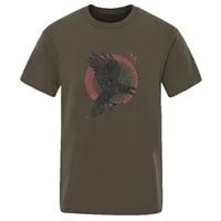2020 viking legend ragnars raven hip hop t shirts summer short sleeve funny crew neck clothing solid color 100 cotton t shirts