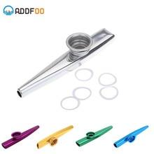 Nouveau Kazoo aluminium alliage métal avec 5 pièces cadeaux flûte diaphragme pour enfants mélomanes
