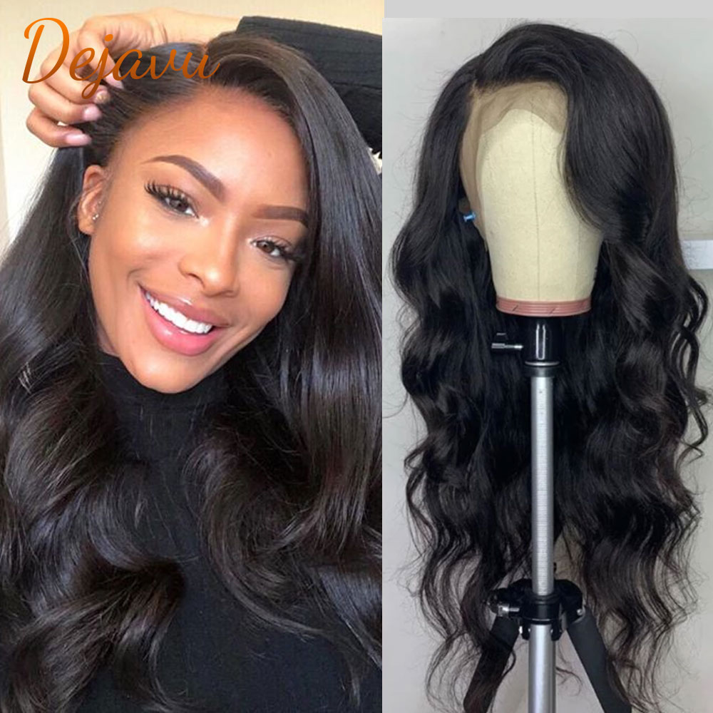 Body Wave Lace Front Human Hair Wigs Lace Frontal Wig 13X4 32 Inch PrePlucked Brazilian Remy Hair Wi