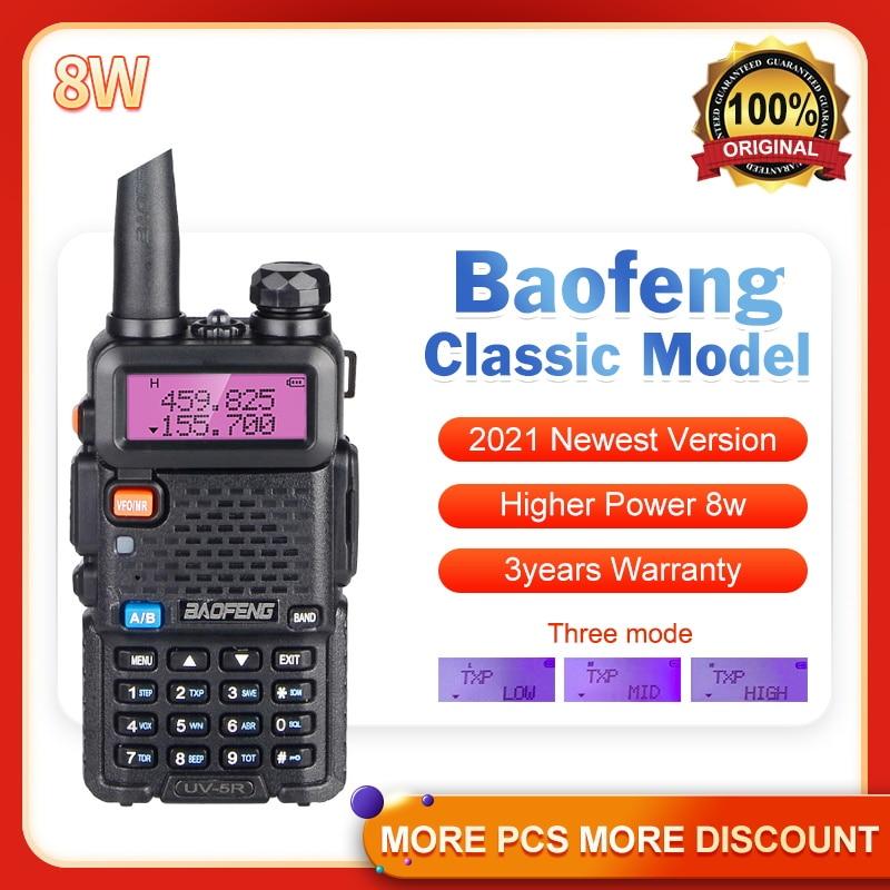 Высокомощное радио baofeng uv-5r 8w Двухдиапазонная рация FM приемопередатчик UV 5R Портативное двухстороннее радио Любительское CB радио