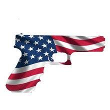 13cm x 8cm Amerikanische Flagge Pistole USA Gun Rechte 2nd Änderung Aufkleber Aufkleber Ruger Vinyl Aufkleber Auto Styling