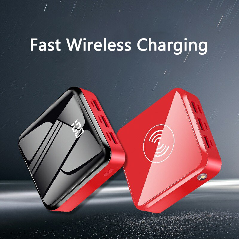 Mini Powerbank 20000mAh Qi Wireless Charger 3 USB Type C Power Bank Fast Wireless Charging for iPhone X Samsung Xiaomi Poverbank