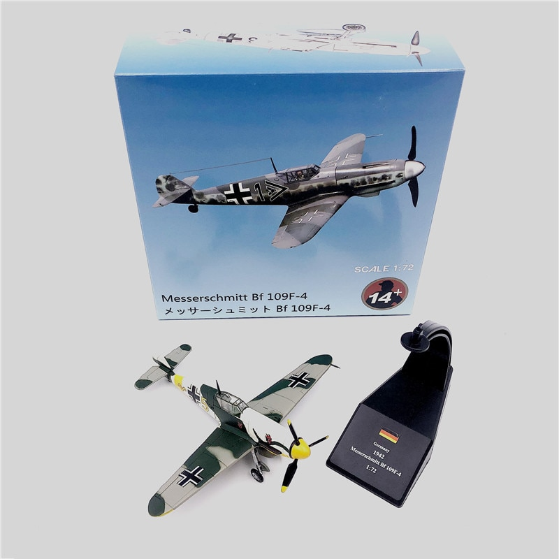 1:72 1/72 Scale WWII German air ace Fighter BF 109 BF-109 Me-109 Diecast Metal Airplane Plane Aircraft Model Toy недорого