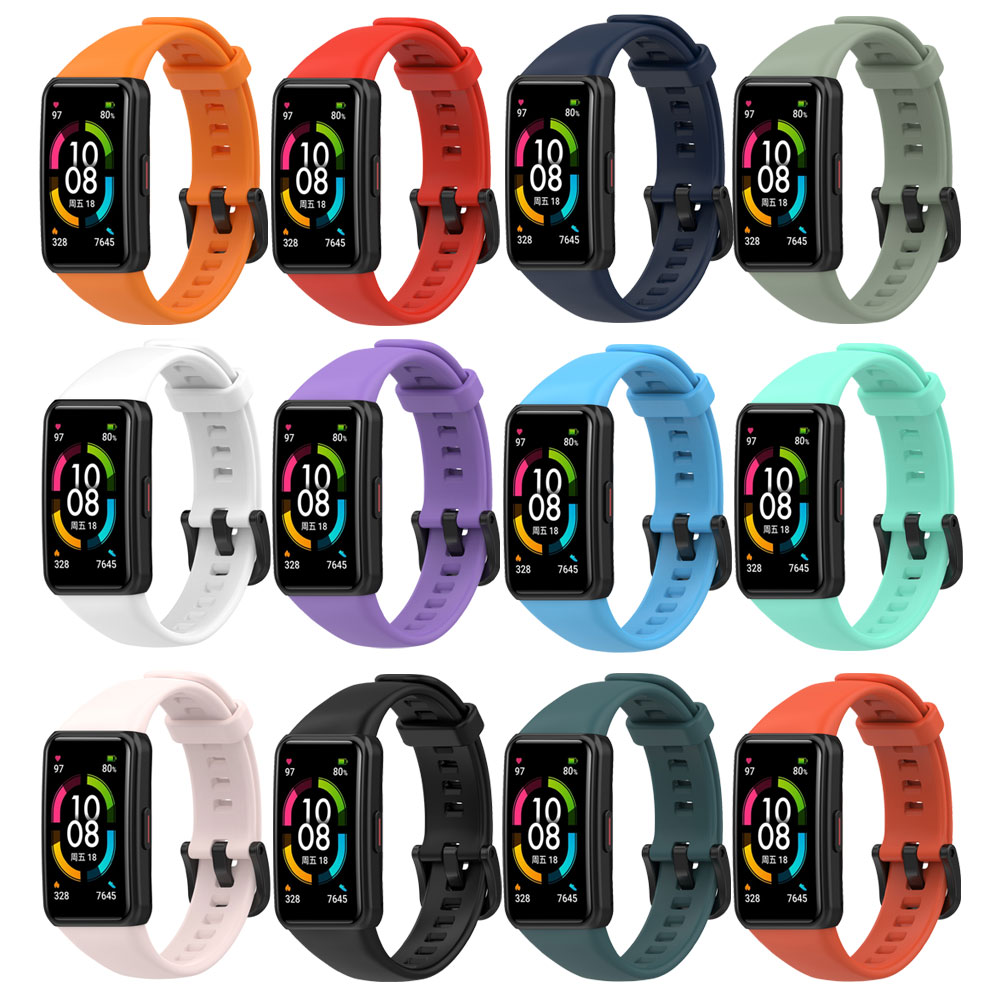 Silicone Wrist Strap For Huawei Honor Band 6 Smart Watch Replacement Band Adjustable Watchbands For Honor Band 6 new replacement sport silicone for huawei band 6 watch band wrist strap adjustable watchband for huawei honor band 6 smart watch