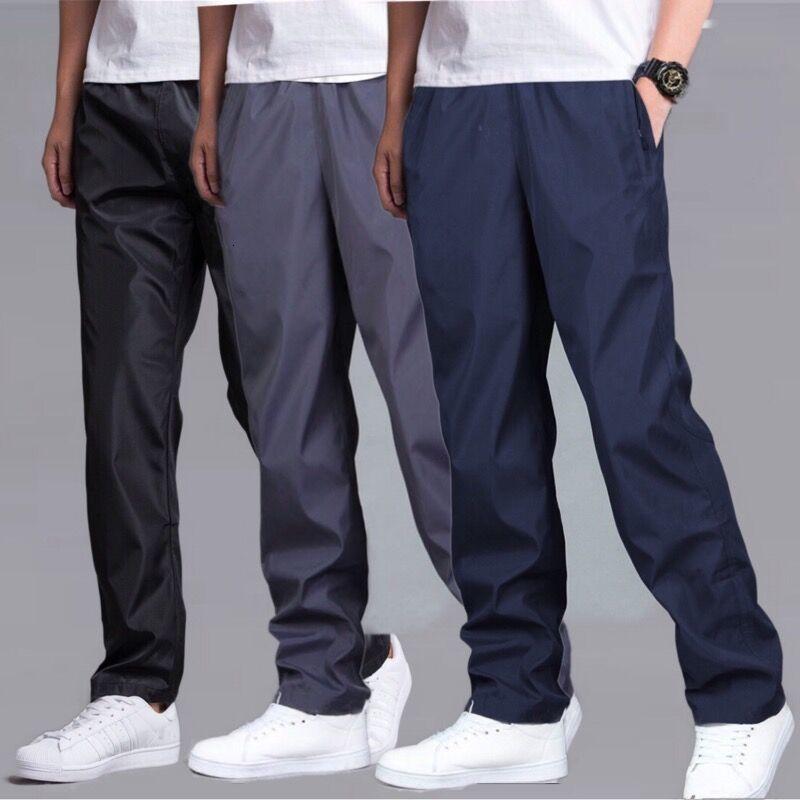 Летние износостойкие водонепроницаемые брюки мужские спортивные брюки на осень и зиму плюс бархатные теплые брюки быстросохнущие свободн...