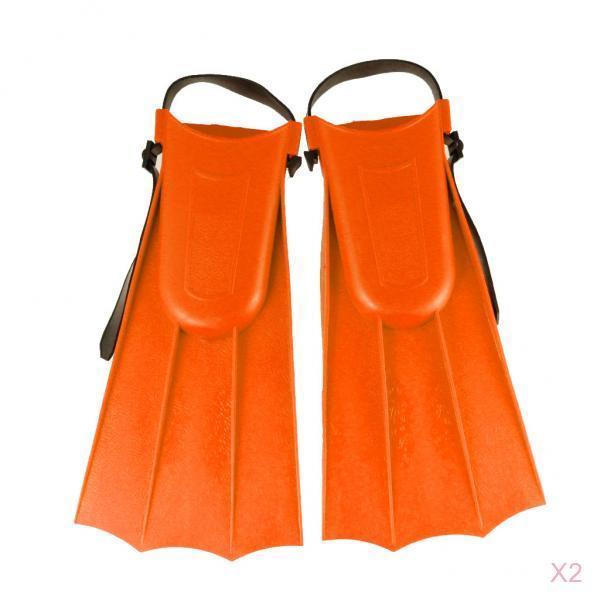 2 pares de aletas de goma para natación Perfeclan Unisex para niños