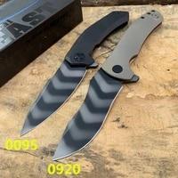 zt 0920 0095 hiking pocket knife s90v tiger pattern blade ball bearing pocket flipper hunting knife