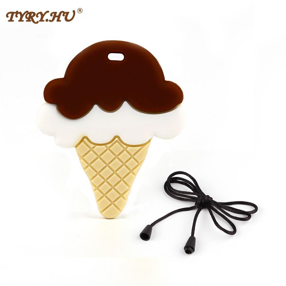 AliExpress - Ice Cream Silicone Teether Baby Nursing Teething Necklace Accessories Baby Bite Jewelry Toddler Teething Toys Pendant1pc