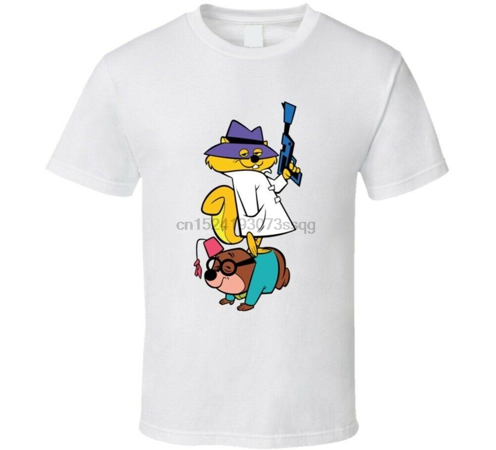 Camiseta de Fan de póster de dibujos animados de ardilla secreta Retro Hanna Barbera