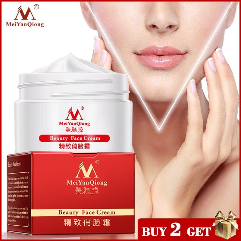 Крем для похудения лица, лифтинг и укрепляющий массаж, антивозрастной отбеливающий увлажняющий крем для ухода за кожей лица, против морщин