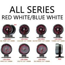 Defi C2 Blue&Red Light 60mm 2.5 Inch Gauge Water Temp Oil Temp Oil Press Rpm Vacuum Turbo Volt With Alarm Racing Meter