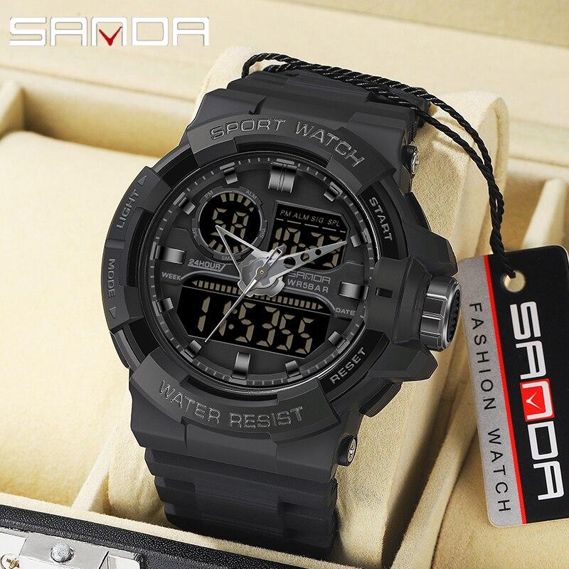 SANDA Military Men's WatchesTop Brand Luxury Waterproof Sport Wristwatch Fashion Quartz Watch Male Clock relogio masculino
