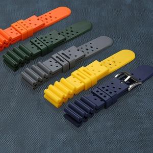 Viton watch strap for Huawei watch fluororubber watchband Waterproof Silicone Bracelet 20mm 22mm 24mm