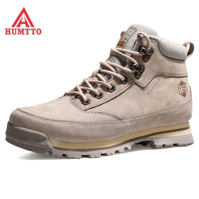 Humtto الشتاء منصة حذاء من الجلد للنساء موضة عالية الجودة مومان أحذية فاخرة مصمم الجلود سلامة العمل أحذية رياضية للمرأة