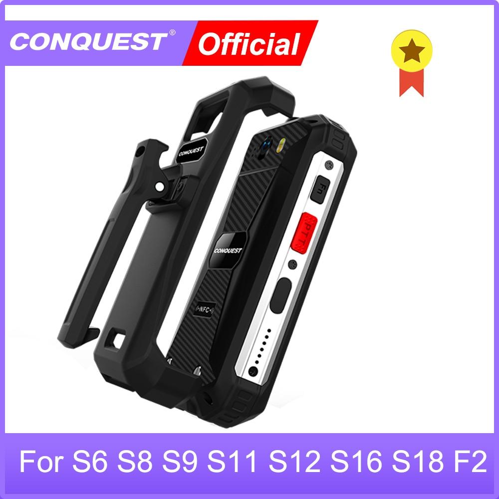 Перейти на Алиэкспресс и купить CONQUEST оригинальный поясной зажим для S6 S8 S9 S11 S12 S16 S18 S19 F2 серии прочный смартфон