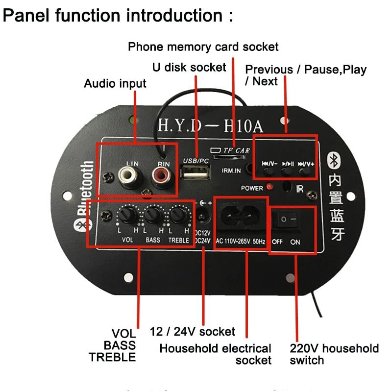 Placa amplificadora para Subwoofer amplificadores tarjeta de Audio Amplificador construido en Bluetooth...