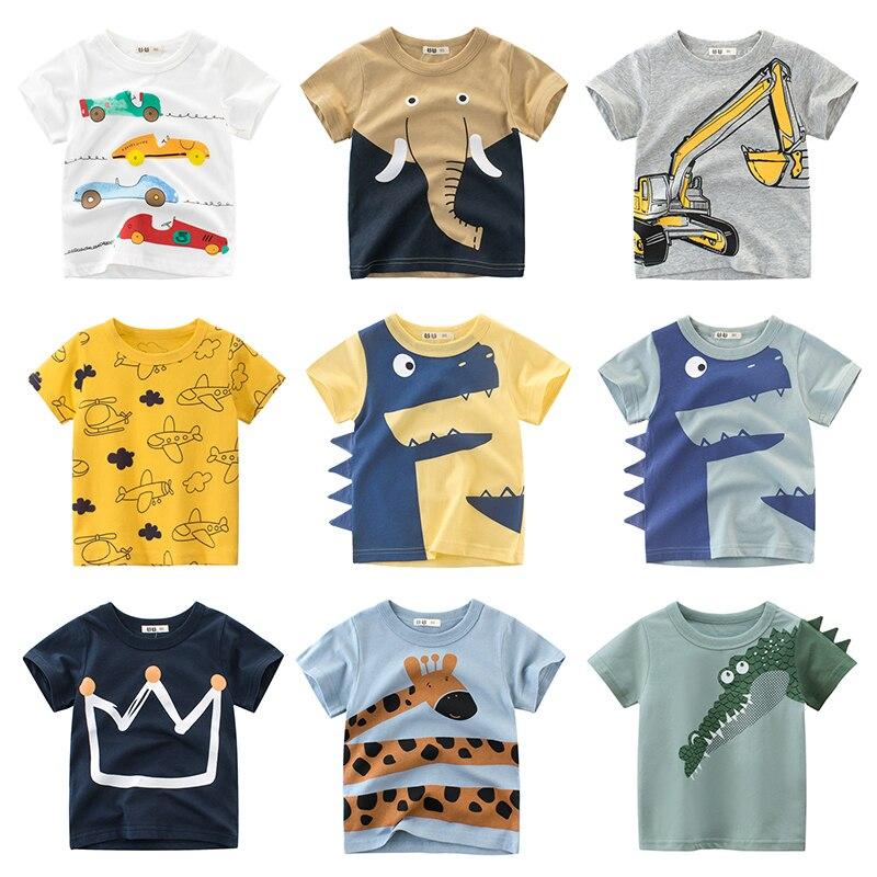AliExpress - Children T-shirt Baby Boys Girls Animal Print Dinosaur T Shirt  kids Tops tees Cartoon Kids Yellow t-shirts Clothes 2-7 Years