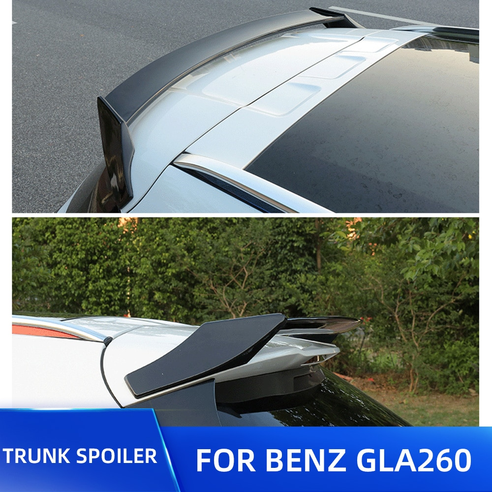GLA200 GLA220 GLA 260 alerón trasero del alerón del coche del maletero del techo para Benz GLA 2015 2016 2017 Material plástico de calidad ABS alerón ala